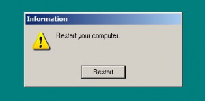 Restart or... restart, The choice is yours